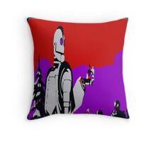 Iron Giant Warhol Style Throw Pillow