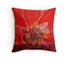 Busy Bee - Gouache Throw Pillow