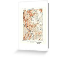 Maine USGS Historical Map Bingham 460210 1903 62500 Greeting Card