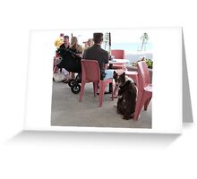 *I HOPE I'M GOING TO GET A DRINK!'* Somerton Park, Beach, Adelaide Greeting Card