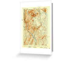Maine USGS Historical Map Bingham 807387 1905 62500 Greeting Card