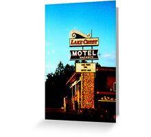 Lake crest motel Greeting Card