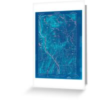 Maine USGS Historical Map Bingham 807388 1905 62500 Inversion Greeting Card