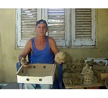 Pottery maker in Cuba. Photographic Print