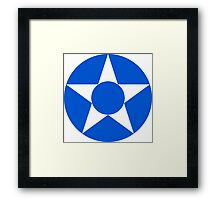 Roundel of the Guatemalan Air Force Framed Print