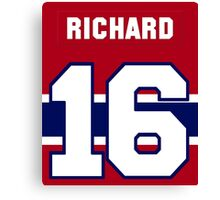 Henri Richard #16 - red jersey Canvas Print