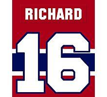 Henri Richard #16 - red jersey Photographic Print