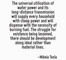The universal utilization of water power and its long-distance transmission will supply every household with cheap power and will dispense with the necessity of burning fuel. The struggle for existen by Quotr