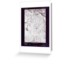 Maine USGS Historical Map Bingham NE 806517 1975 24000 Inversion Greeting Card