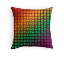 Weave World (rainbow/pride colors) Throw Pillow