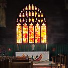 Manchester Catheral Staine Glass Winow by Bob Davies