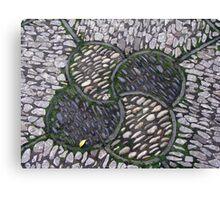 Stonework, Crab Apple Design Canvas Print