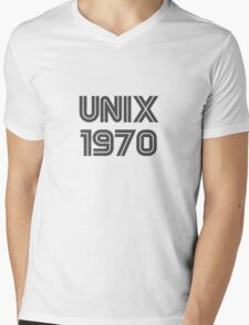 Unix 1970 Mens V-Neck T-Shirt