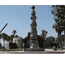 Totem Pole at Venice Beach, CA Photographic Print