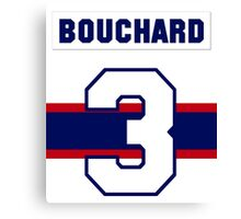 Butch Bouchard #3 - 1940s white jersey Canvas Print
