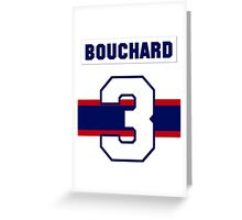 Butch Bouchard #3 - 1940s white jersey Greeting Card