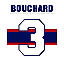 Butch Bouchard #3 - 1940s white jersey Photographic Print