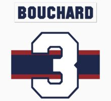 Butch Bouchard #3 - 1940s white jersey One Piece - Short Sleeve