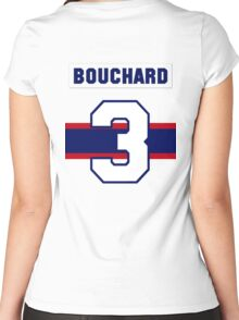 Butch Bouchard #3 - 1940s white jersey Women's Fitted Scoop T-Shirt