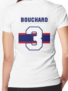 Butch Bouchard #3 - 1940s white jersey Women's Fitted V-Neck T-Shirt