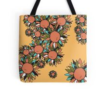 Psychedelic Sunflowers Tote Bag
