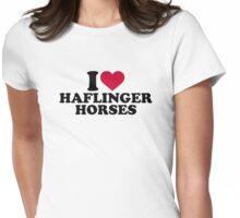 I love Haflinger horses Womens Fitted T-Shirt