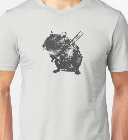 Angry street art mouse / hamster (baseball edit) Unisex T-Shirt