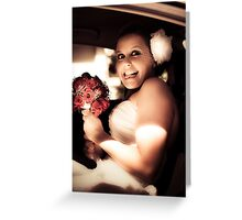 Crazy Bridezilla Greeting Card