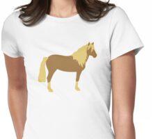 Haflinger horse Womens Fitted T-Shirt
