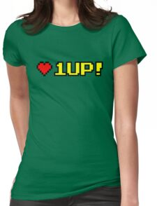 8-bit 1UP Womens Fitted T-Shirt