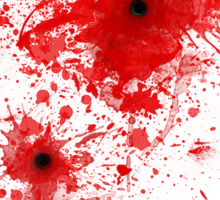 Blood spatter / bullet wound - Costume  Sticker