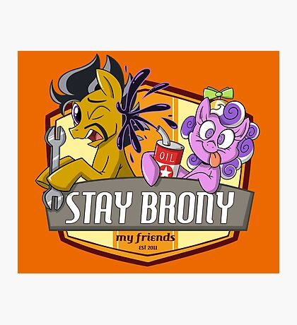 Stay Brony My Friends Garage Photographic Print