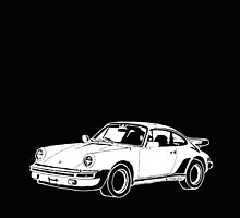 1980s Porsche 911/930 Turbo Hand Drawing by Framerkat