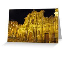 Iglesia La Compañia de Jesús Greeting Card