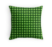 Weave World (green) Throw Pillow