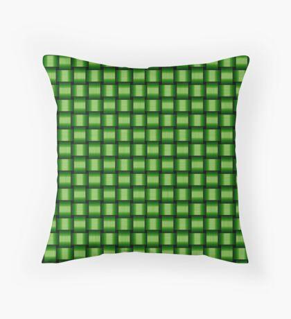 Weave World (green) Throw Pillow
