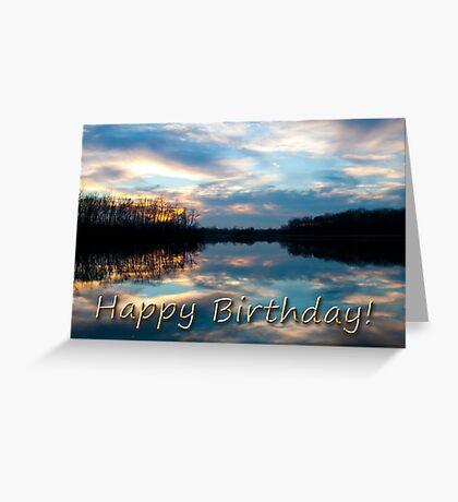 Birthday Sunset Lake Greeting Card