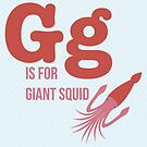G is for Giant Squid by Amy Huxtable