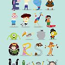 Animated characters abc by mjdaluz