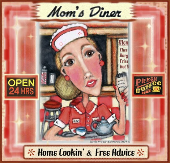 Vintage Diner  Waitress by Jamie Wogan Edwards