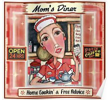 Vintage Diner  Waitress Poster