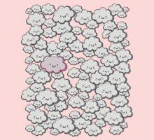 Kawaii Grey Little Clouds Kids Clothes