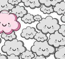 Kawaii Grey Little Clouds Sticker
