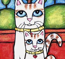 Tabby Cat and Kitten  by Jamie Wogan Edwards
