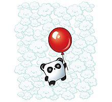 Kawaii Little Panda on the Balloon Photographic Print