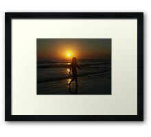 Orange Night Framed Print