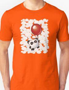 Kawaii Little Panda on the Balloon Unisex T-Shirt