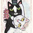 Wedding Dance Cats by Jamie Wogan Edwards