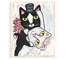 Wedding Dance Cats Photographic Print