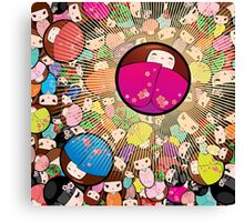 Kokeshi dolls Canvas Print